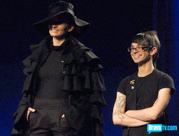 black dress from designer christian project runway