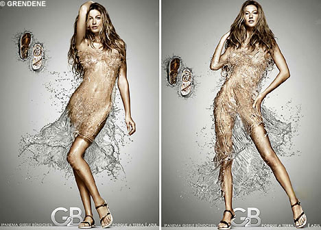 Gisele wet dress