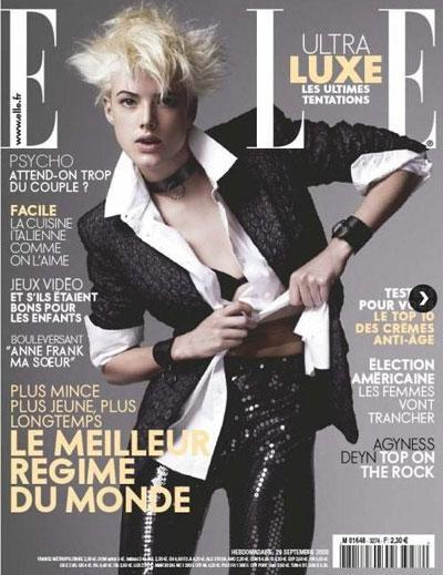 Agyness Deyn French Elle